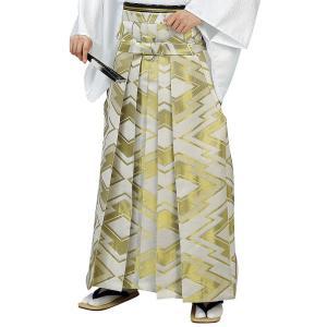 袴 メンズ レディース 馬乗り はかま 成人式 踊り 金襴 袴 日本製 ベージュ 松皮菱|kameya