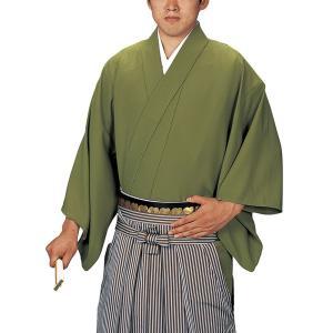 袴下着物 男性 女性 袴用着物 成人式 卒業式 祭り 踊り 手古舞 太鼓 袴下着物 L 草色|kameya