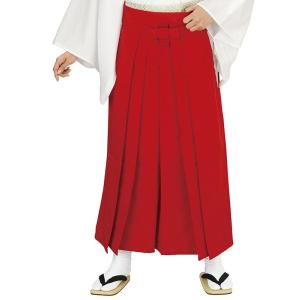 無地袴(緋色・うまのり型) 踊り 舞台 ステージ 式典 成人式用はかま 日舞・詩吟・能楽の舞台衣装用の袴 [日本製] kameya
