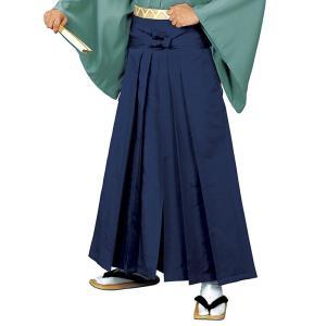 無地袴(紺・うまのり型) 踊り 舞台 ステージ 式典 成人式用はかま 日舞・詩吟・能楽の舞台衣装用の袴 [日本製]|kameya