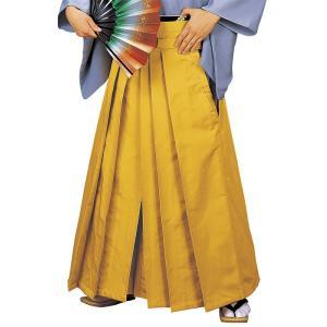 無地袴(金茶・うまのり型) 踊り 舞台 ステージ 式典 成人式用はかま 日舞・詩吟・能楽の舞台衣装用の袴 [日本製]【kz】|kameya