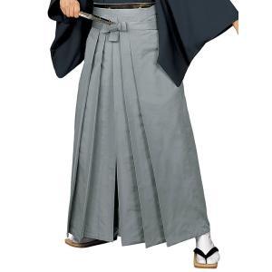 無地袴(グレー・うまのり型) 踊り 舞台 ステージ 式典 成人式用はかま 日舞・詩吟・能楽の舞台衣装用の袴 [日本製]|kameya