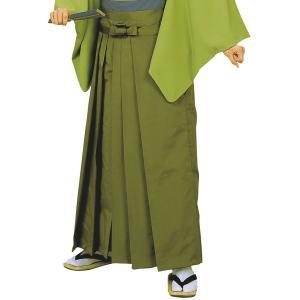 無地袴(海松色・うまのり型) 踊り 舞台 ステージ 式典 成人式用はかま 日舞・詩吟・能楽の舞台衣装用の袴 [日本製] kameya
