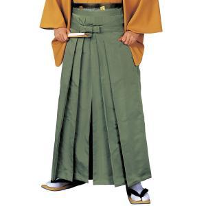 無地袴(老緑・うまのり型) 踊り 舞台 ステージ 式典 成人式用はかま 日舞・詩吟・能楽の舞台衣装用の袴 [日本製]|kameya