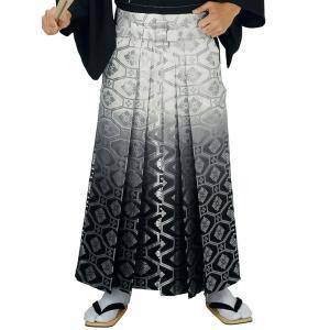 銀襴袴(馬乗り型・白/グレー/黒暈し・蜀江・花菱) 日舞 詩吟 能楽の舞台 舞踊袴 式典 成人式のはかま 高品位日本製 踊り袴|kameya