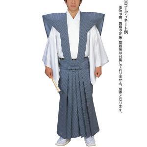 裃 かみしも 節分 豆まき 綿 紺 入子菱 肩衣 袴 時代劇 武者行列 ステージ用の裃|kameya