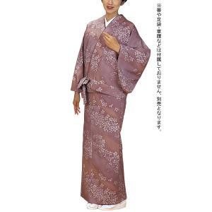 女物仕立上り二部式着物(袷・オールドローズ・桜) 伊達衿付洗えるセパレート着物 2部式和装上下 カジュアル和服 旅館 和食店用制服 おもてなし和装|kameya