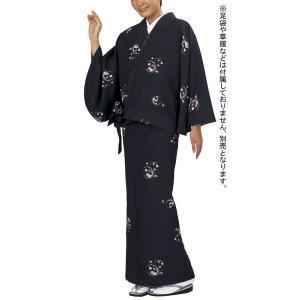 女物仕立上り二部式着物(袷・雪輪・梅) 伊達衿付洗えるセパレート着物 2部式和装上下 カジュアル和服 旅館 和食店用制服 おもてなし和装|kameya