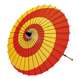 舞踊傘 子供用 子ども用 踊り傘 紙傘 紙舞傘 番傘 踊り 小道具 舞傘 和傘 赤 黄色 nsd-3309|kameya