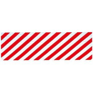 注染本染め踊り手拭い(長さ105cm・斜め縞・赤) 表裏とも柄が鮮明 日本舞踊 舞台 ステージ用手ぬぐい 高品位おどり手拭い お年賀 ノベルティー用布巾|kameya