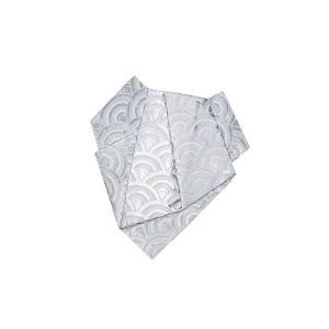 後見帯 作り帯 後見結び帯 踊り 帯 着物 白 銀青海波 日本舞踊 歌舞伎 成人式|kameya