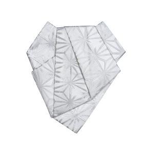 後見帯 作り帯 後見結び帯 踊り 帯 着物 白 銀破れ麻の葉 日本舞踊 歌舞伎 成人式|kameya