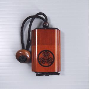 印籠 いんろう 薬籠 印籠巾着 葵の御紋 時代劇 芝居 祭り 小道具 踊り 木製|kameya