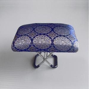 携帯用正座椅子(二段調整式・大型・紺色) 書道 華道 茶道 法事 お裁縫 手芸用コンパクト座椅子 折り畳み式らくらく正座椅子 脚しびれナイス?|kameya