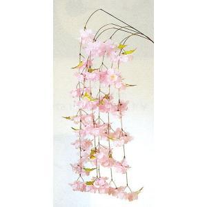 しだれ桜持枝(不職布製) 舞踊小道具 踊り小物 舞台 ステージ 日舞用持ち枝 舞台装飾|kameya