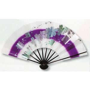 舞扇子(長さ29cm・桜/紫ボカシ)−日本舞踊扇子 舞扇 化粧箱付き舞踊扇|kameya