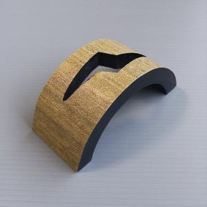 半月型扇立て(黒) 扇子の飾り台 舞扇をインテリアとして飾るための台 紙箱入り [nmd-7557-3]|kameya