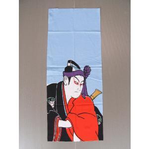 高級本染手拭(長さ90cm・助六) 表裏とも柄が鮮明 注染本染め浮世絵手ぬぐい 祭り 踊り手拭い お年賀 ノベルティー インテリア用布巾|kameya