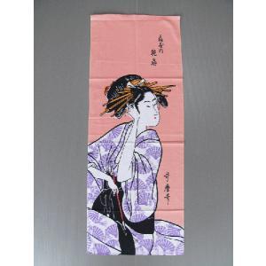 高級本染手拭(長さ90cm・花扇) 表裏とも柄が鮮明 注染本染め浮世絵手ぬぐい 祭り 踊り手拭い お年賀 ノベルティー インテリア用布巾|kameya