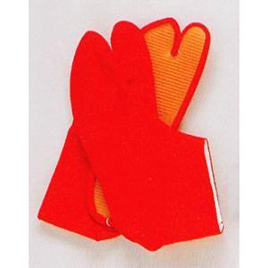 カラー地下足袋(赤)−祭り足袋 まつり用カラー足袋 神社 神輿 山車 市民祭り用地下足袋 色足袋 祭り用品 [nmd-5038]|kameya