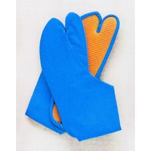 カラー地下足袋(ブルー) まつり用カラー足袋 神社 神輿 山車 市民祭り用地下足袋 色足袋 祭り用品|kameya