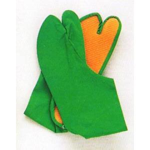 カラー地下足袋(緑) まつり用カラー足袋 神社 神輿 山車 市民祭り用地下足袋 色足袋 祭り用品|kameya