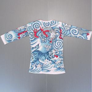刺青シャツ 入れ墨 シャツ 祭り タトゥー Tシャツ 肉襦袢 竜虎 祭り用品 長袖|kameya