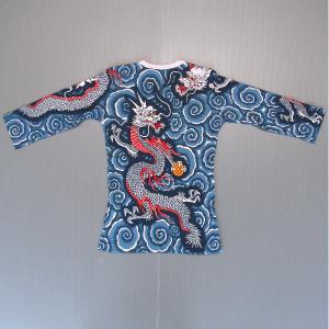 刺青シャツ 入れ墨 シャツ 祭り タトゥー Tシャツ 肉襦袢 昇り竜 祭り用品 長袖|kameya