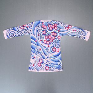 刺青シャツ 桜吹雪 まつり用インナーウエア 祭り用コント お芝居 寸劇用タイトフィットシャツ 祭り用品|kameya
