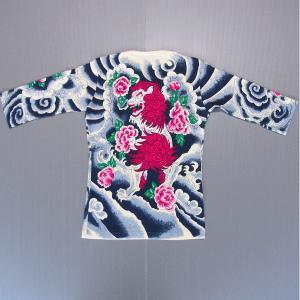 刺青シャツ 入れ墨 シャツ 祭り タトゥー Tシャツ 肉襦袢 唐獅子牡丹 祭り用品 長袖|kameya