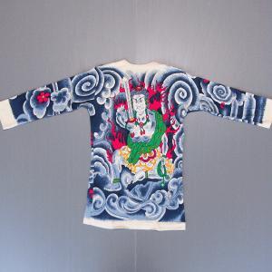 刺青シャツ 入れ墨 シャツ 祭り タトゥー Tシャツ 肉襦袢 不動明王 祭り用品 長袖|kameya