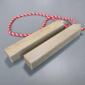 祭り拍子木 中 祭り楽器 鳴り物 まつり用品 お囃子 舞台 ステージ用小道具|kameya