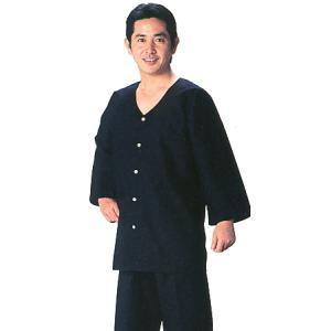 ダボシャツ 祭り メンズ レディース 鯉口シャツ 黒 天竺 踊り 祭り用品 kz-L|kameya
