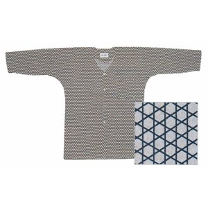 鯉口シャツ 祭り ダボシャツ メンズ レディース 小紋 浴衣地 篭目 鯉口シャツ 祭り用品|kameya