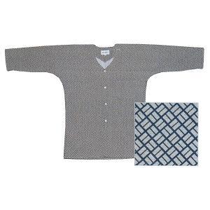 鯉口シャツ 祭り ダボシャツ メンズ レディース 小紋 浴衣地 二の字 鯉口シャツ 祭り用品|kameya