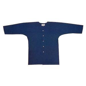 藍染鯉口シャツ(無地) まつり用インナーウエア 神社 神輿 山車 市民祭り用単色シャツ 祭り用品|kameya