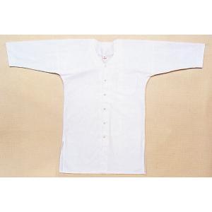 鯉口シャツ 祭り ダボシャツ メンズ レディース ロング 丈長 白 祭り用品 鯉口シャツ|kameya