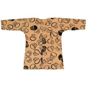 鯉口シャツ 祭り ダボシャツ メンズ レディース 浴衣地 茶 達磨 鯉口シャツ 祭り用品|kameya