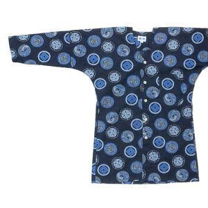 鯉口シャツ 祭り ダボシャツ メンズ レディース 家紋 濃紺 鯉口シャツ 祭り用品|kameya