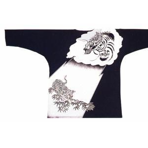 竜虎柄鯉口シャツ(黒・白) 男女兼用の祭り用鯉口シャツ(変わり織) まつり用インナーウエア 神社 神輿 山車 市民祭り用パターンシャツ|kameya