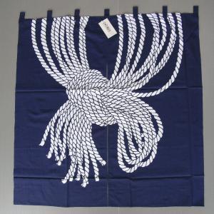 暖簾(幅85cm×丈90cm・間仕切り用・束ね綱結び) 間仕切りのれん ブラインド暖簾|kameya