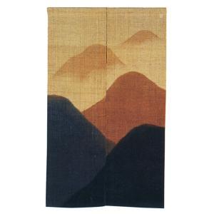 のれん 暖簾 おしゃれ 和風 ロング 麻 夏用 のれん 90×150cm 遠山 本染暖簾|kameya