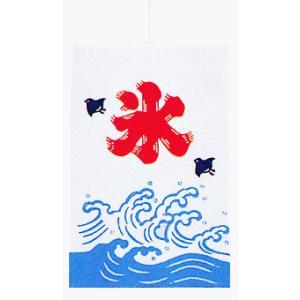 招布(幅22cm×丈36cm・氷) ミニのぼり おめでたい絵柄の縁起幟旗|kameya