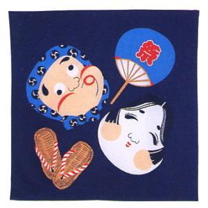 バンダナ ハンカチ スカーフ ポケットはんかち 和風バンダナ おかめひょっとこ|kameya