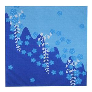 バンダナ ハンカチ スカーフ ポケットはんかち 和風バンダナ 藤と桜|kameya