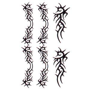 ペーパータトゥー(トライブ/10cm×17.5cm) 祭化粧入れ墨シール フェイク刺青 パーティ用タトゥーシール|kameya