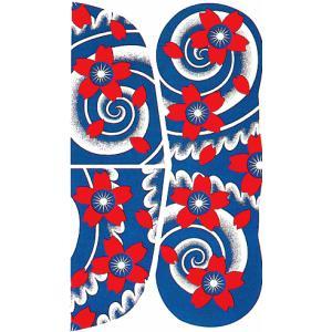 大判ペーパータトゥー(桜吹雪/20cm×35cm) 祭化粧入れ墨シール フェイク刺青 パーティ用タトゥーシール|kameya