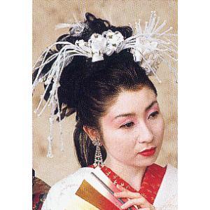 髪飾り セット 黒鳥羽根 羽根付人毛 成人式 卒業式 晴れ着 振袖 舞台 髪飾り|kameya