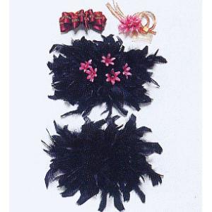 髪飾り セット 鳥羽根2つ 赤紫 バレッタ 成人式 卒業式 振袖 舞台 ヘアアクセ 髪飾り|kameya