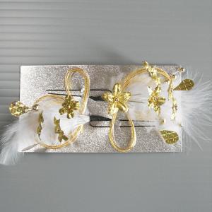 髪飾り ミニフラワー 成人式 卒業式 振袖 浴衣 髪飾り ヘアアクセ ゴールド 2本セット|kameya